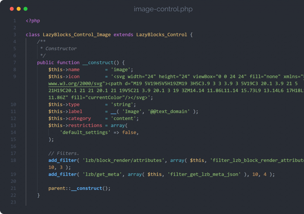 Custom PHP and filters for developers